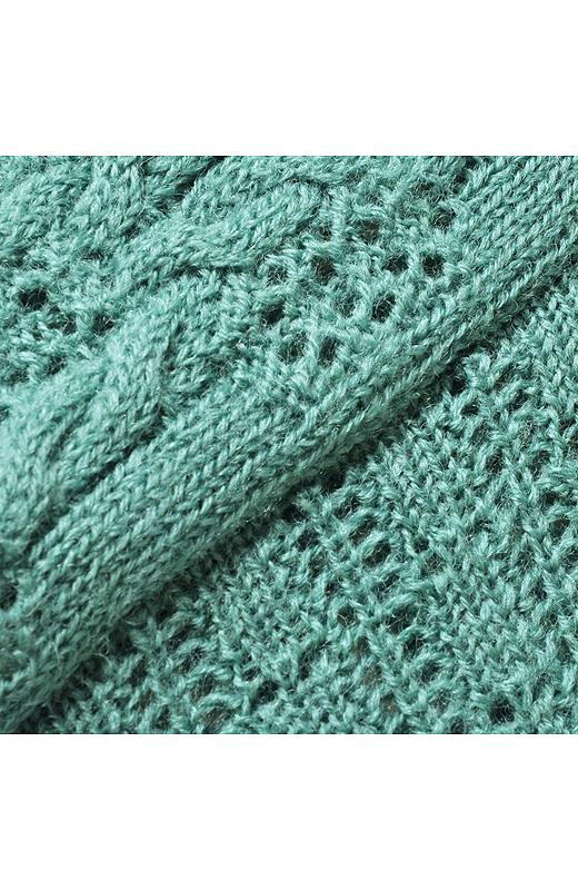 ふんわりとした透かし編み。