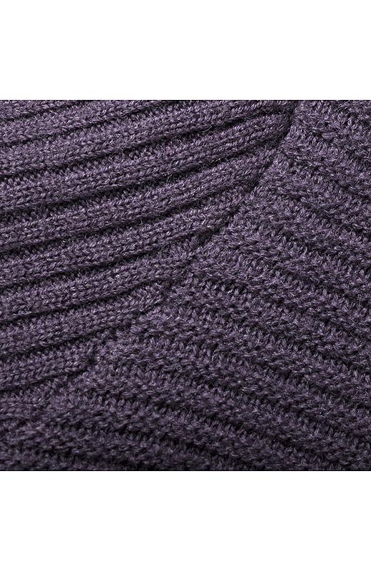 雰囲気のあるガーター編み。