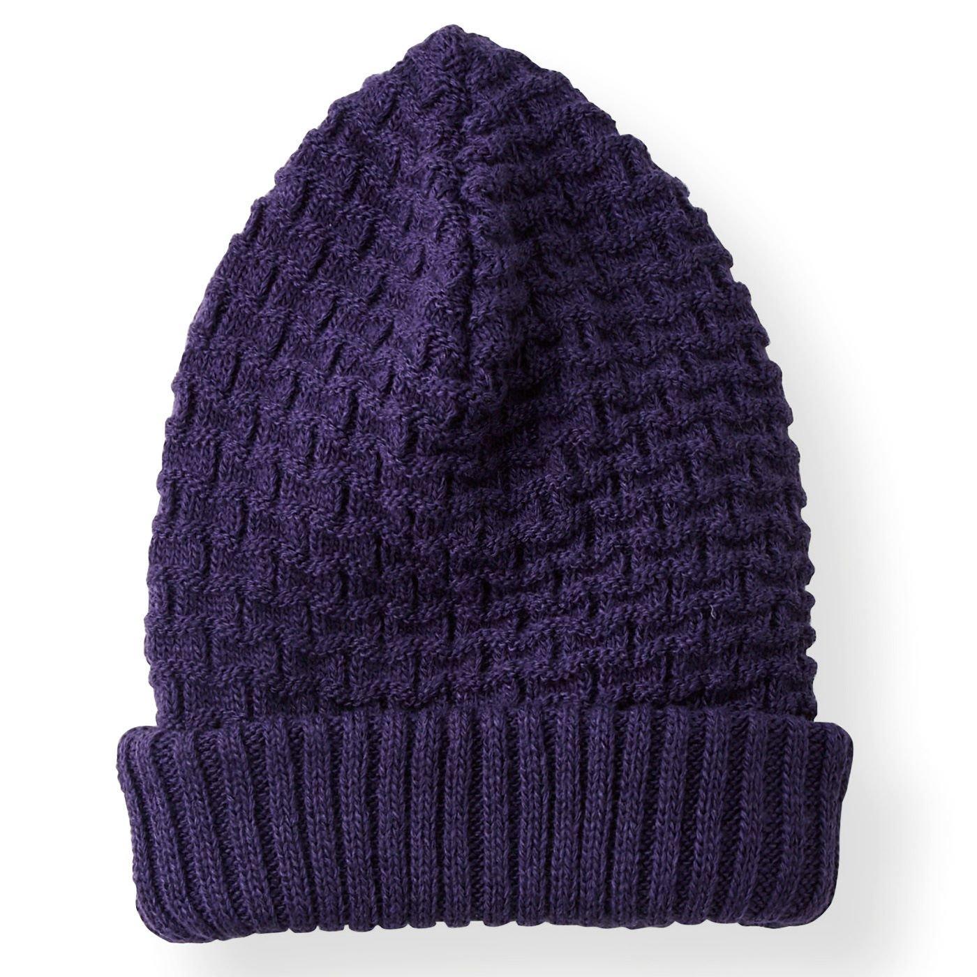 一日中かぶりたい!内側シルク混の暖かニット帽