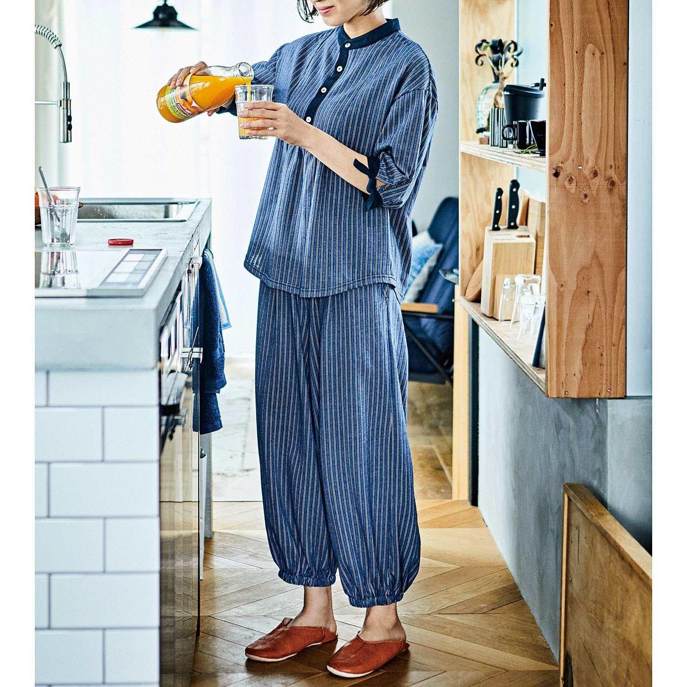 フラウグラット 布帛(ふはく)見えするのに実はらくちん ちょっと外にも部屋着にもそのまま寝られるウェアセットの会