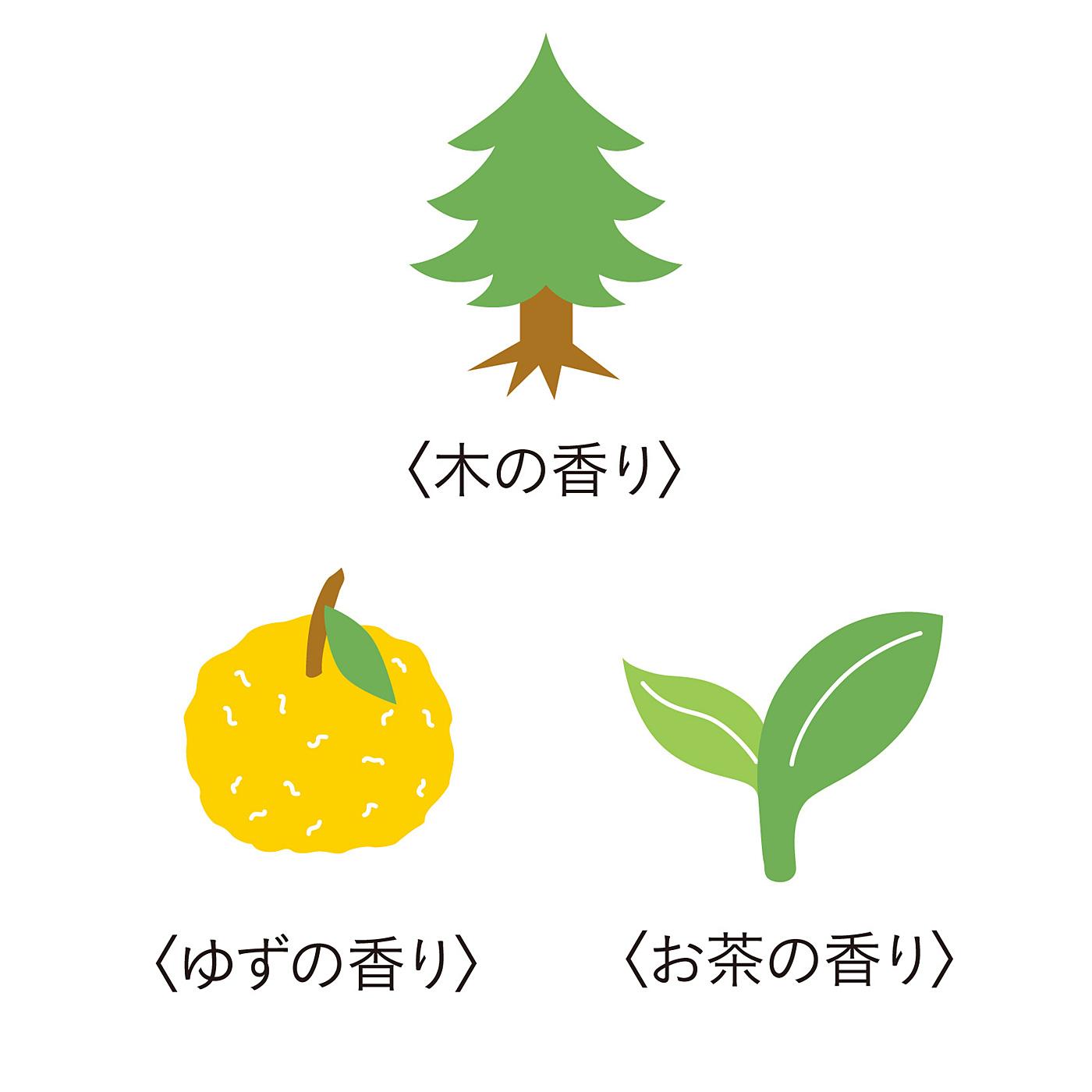 ●ナチュラルな3種類の香りの中からお届けします。