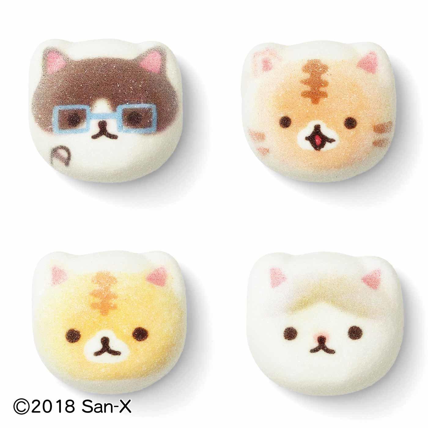 コロニャと猫部のミニ和風ニャシュマロ(猫ほうずい)
