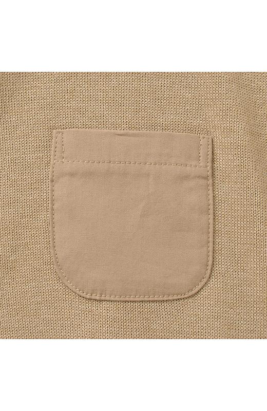 異素材のポッケがかわいい。