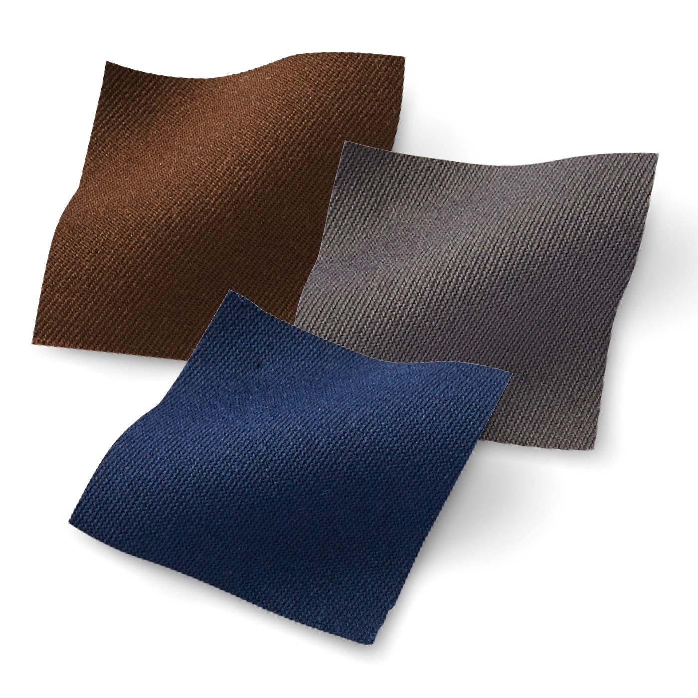 ほどよい厚さの素材。汚れが目立ちにくいカラー。