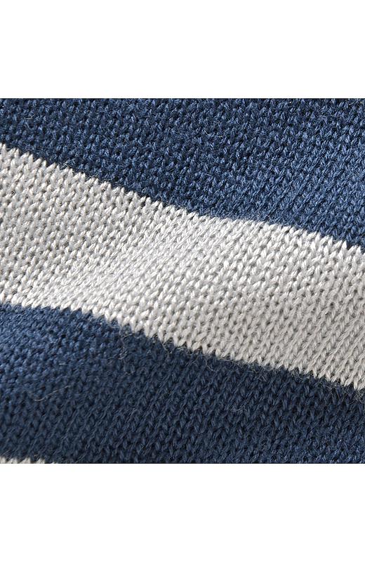 さらりと着られるきれいめなハイゲージのニット素材。