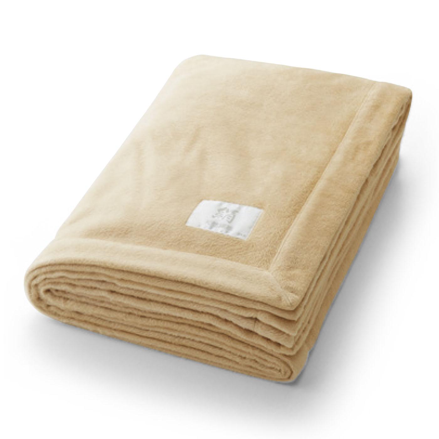 匠が極めた技が光る とろけるような肌ざわり シルク起毛毛布〈シングルサイズ〉