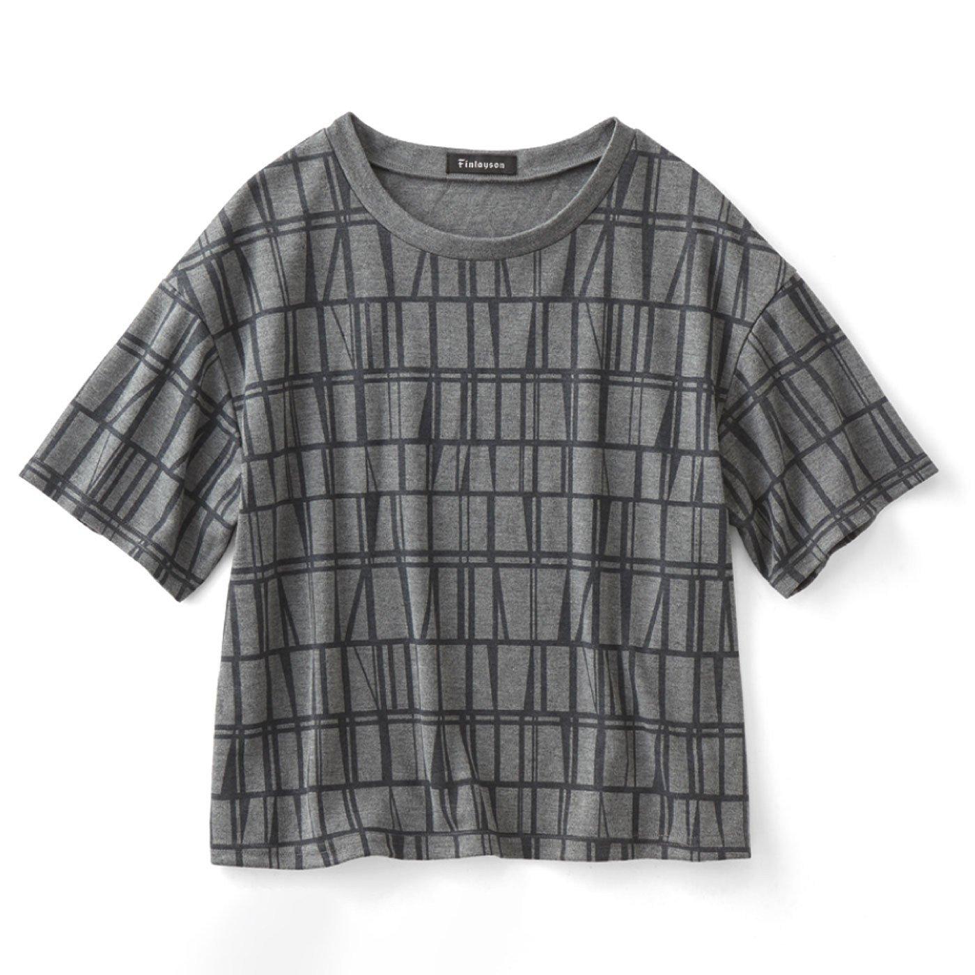 フィンレイソン ボーイッシュシルエットのプリントTシャツ〈コロナ〉