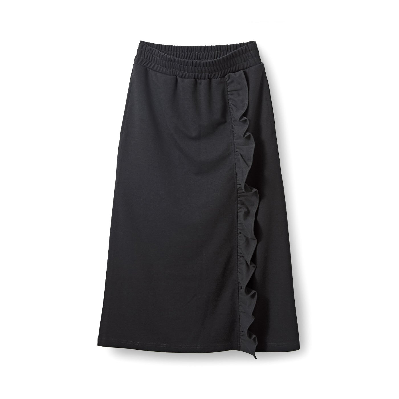 アヴェクモワ フリルスカート〈ブラック〉