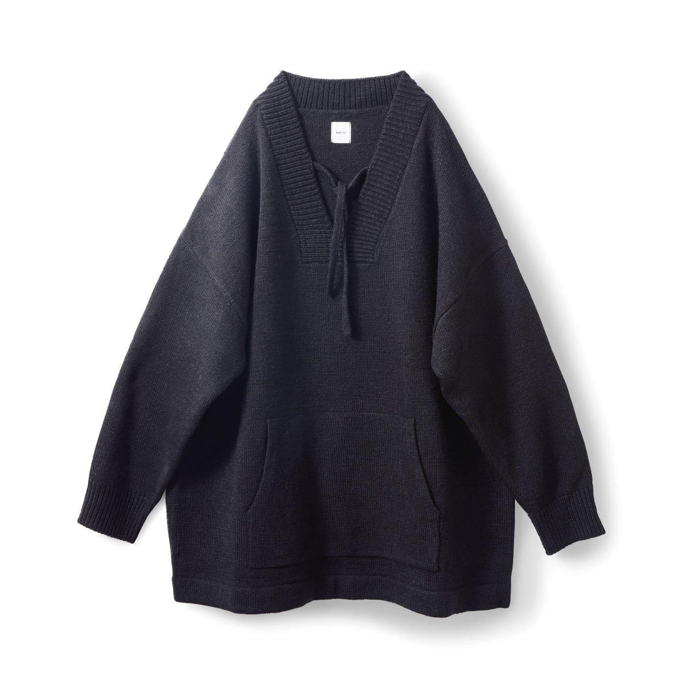アヴェクモワ Vネックセーター〈ブラック〉