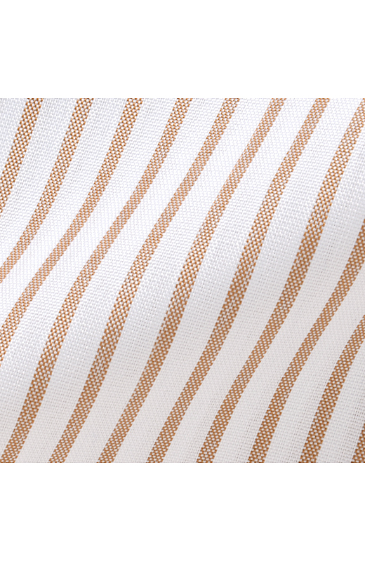 きちんと見えするストライプの布はく素材。