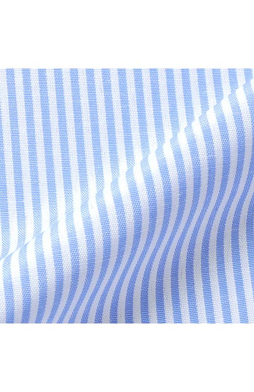 きちんと見えるストライプの布はく素材。