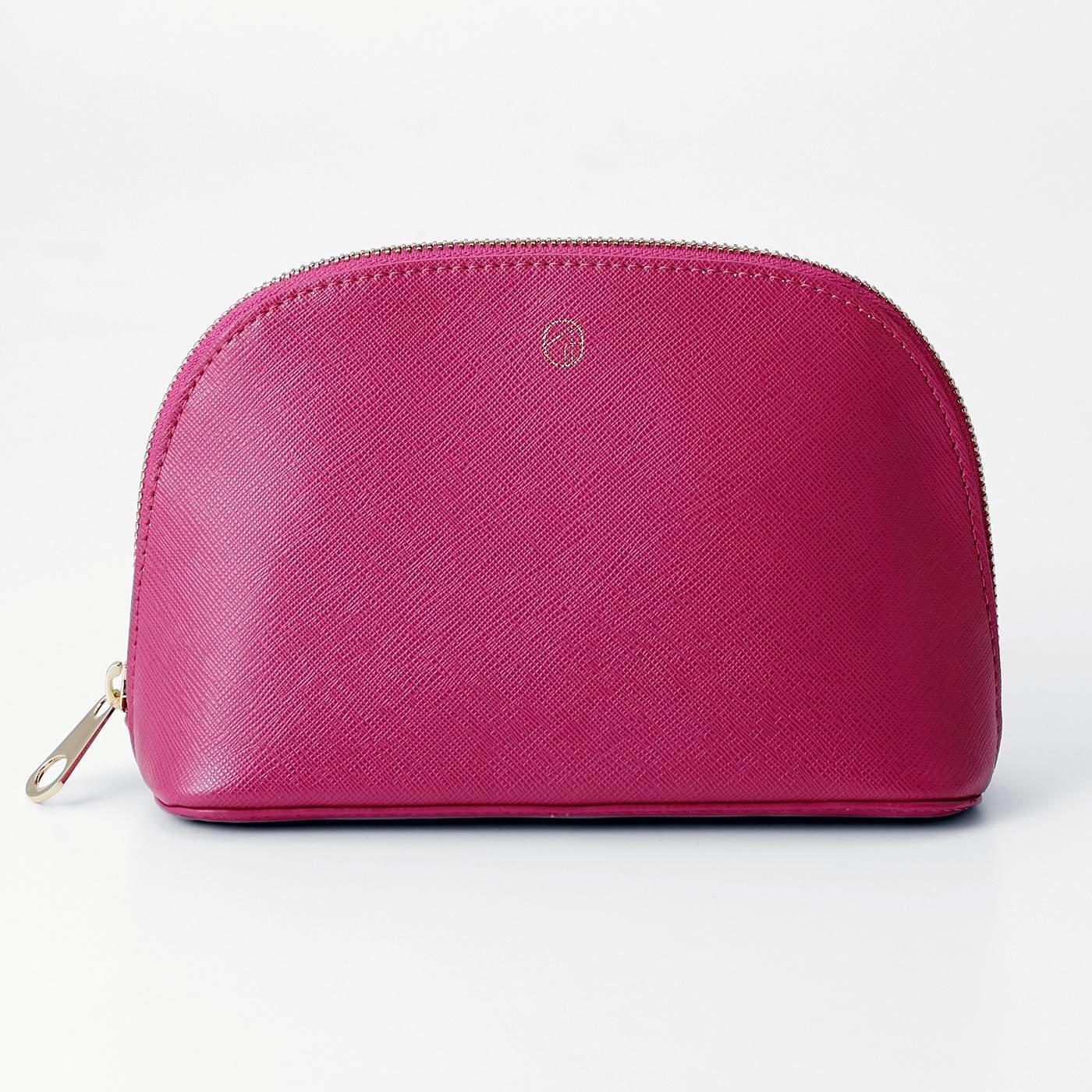 OSYAIRO カラーを楽しむ スッキリ自立する大人ポーチ〈ピンク〉