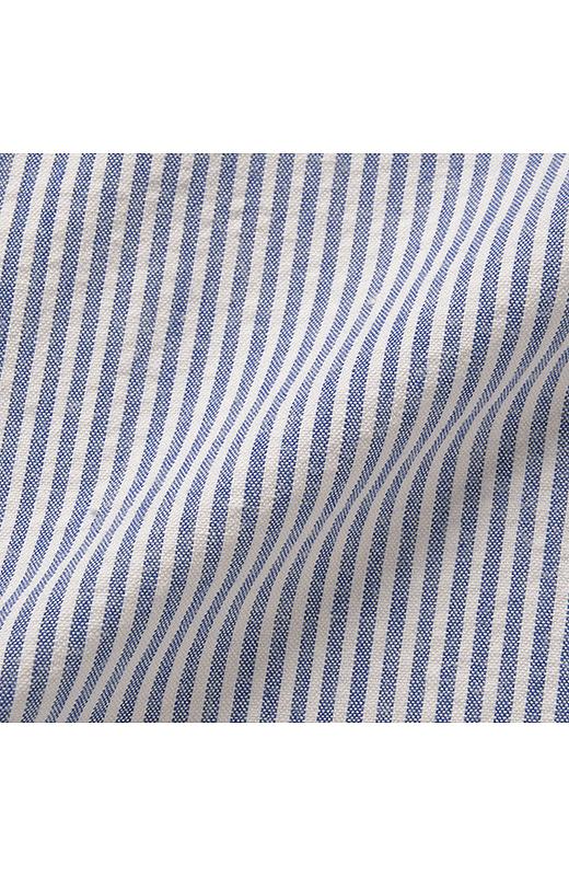 凹凸のある綿100%のサッカー素材だから、肌当たり涼やか。吸水速乾加工で汗をかいても快適。