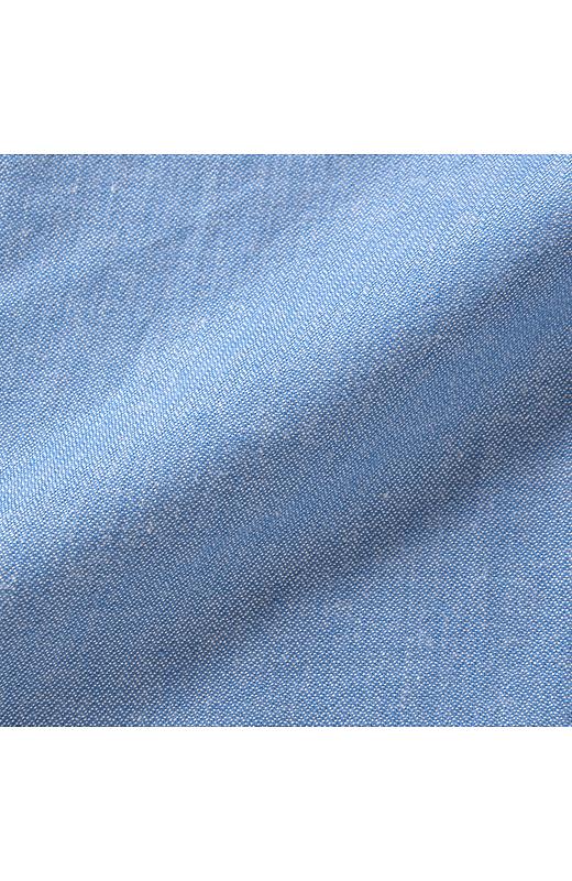 シャンブレーのスカートは透けにくくて安心。