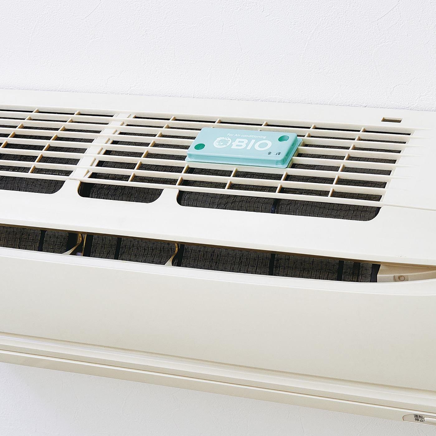 吸気口に貼るだけ清潔キープ バイオのチカラ エアコンのカビ発生抑制プレートの会