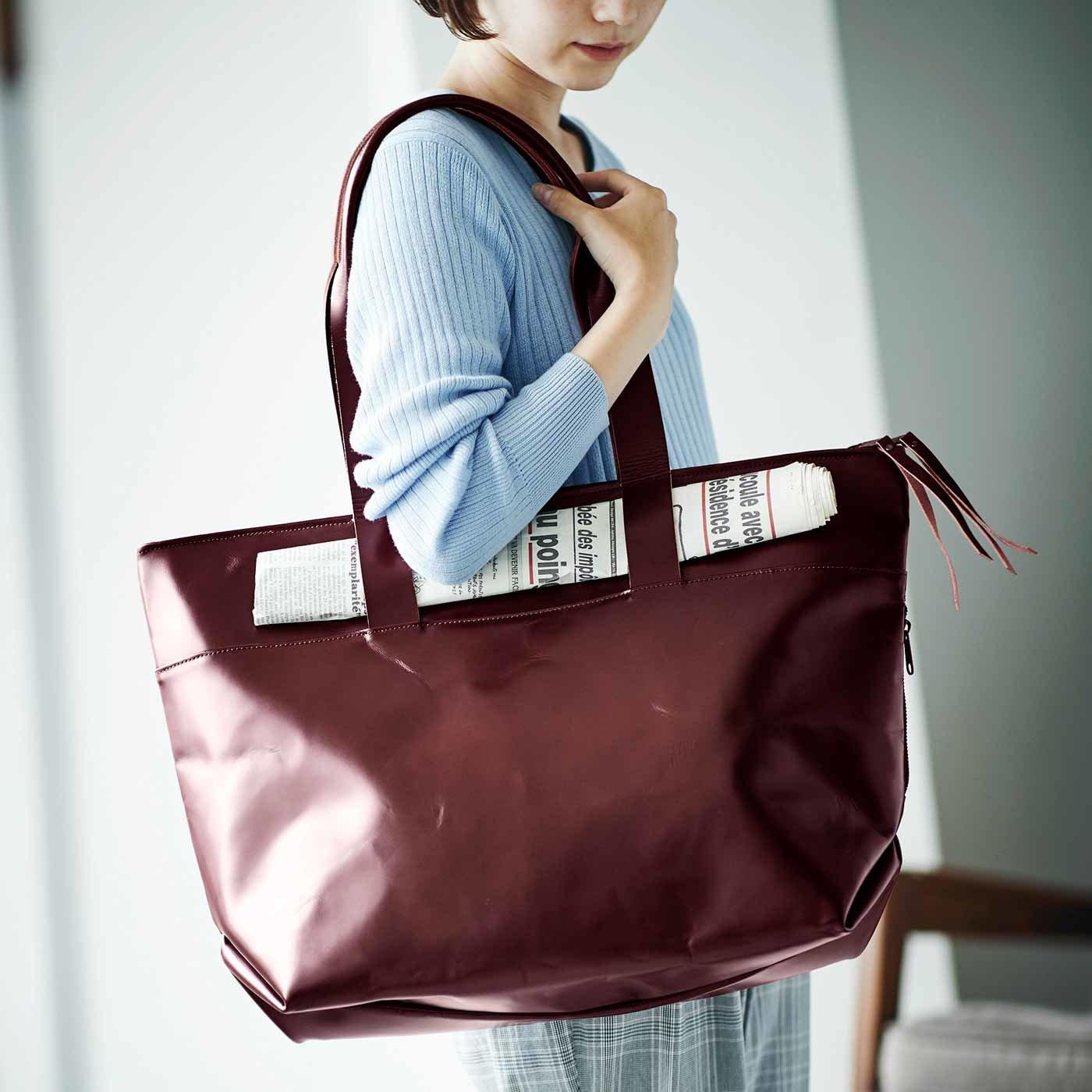 プロダクトデザイナーと作った 職人本革仕上げのお仕事鞄(かばん)〈ボルドー〉[本革 鞄:日本製]