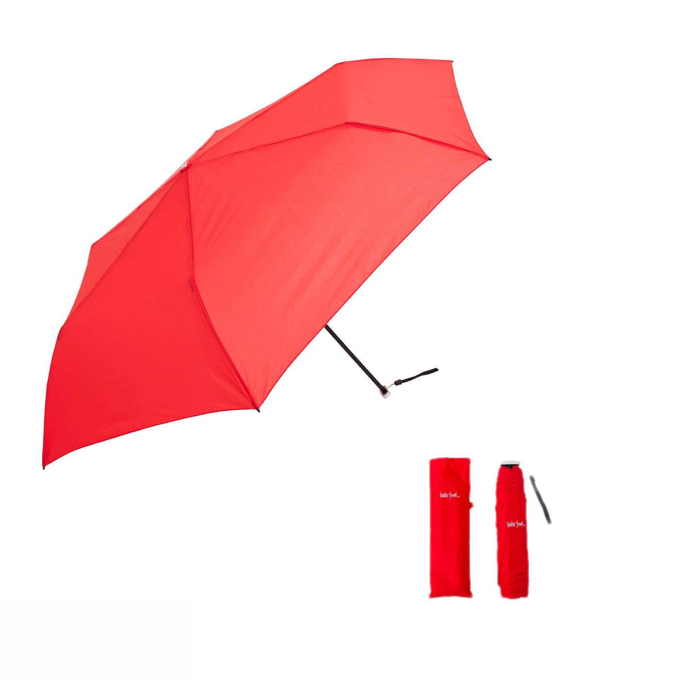 厚さ約2.5cm!収納上手な超薄型 晴雨兼用傘 スマートフラット(カラー)