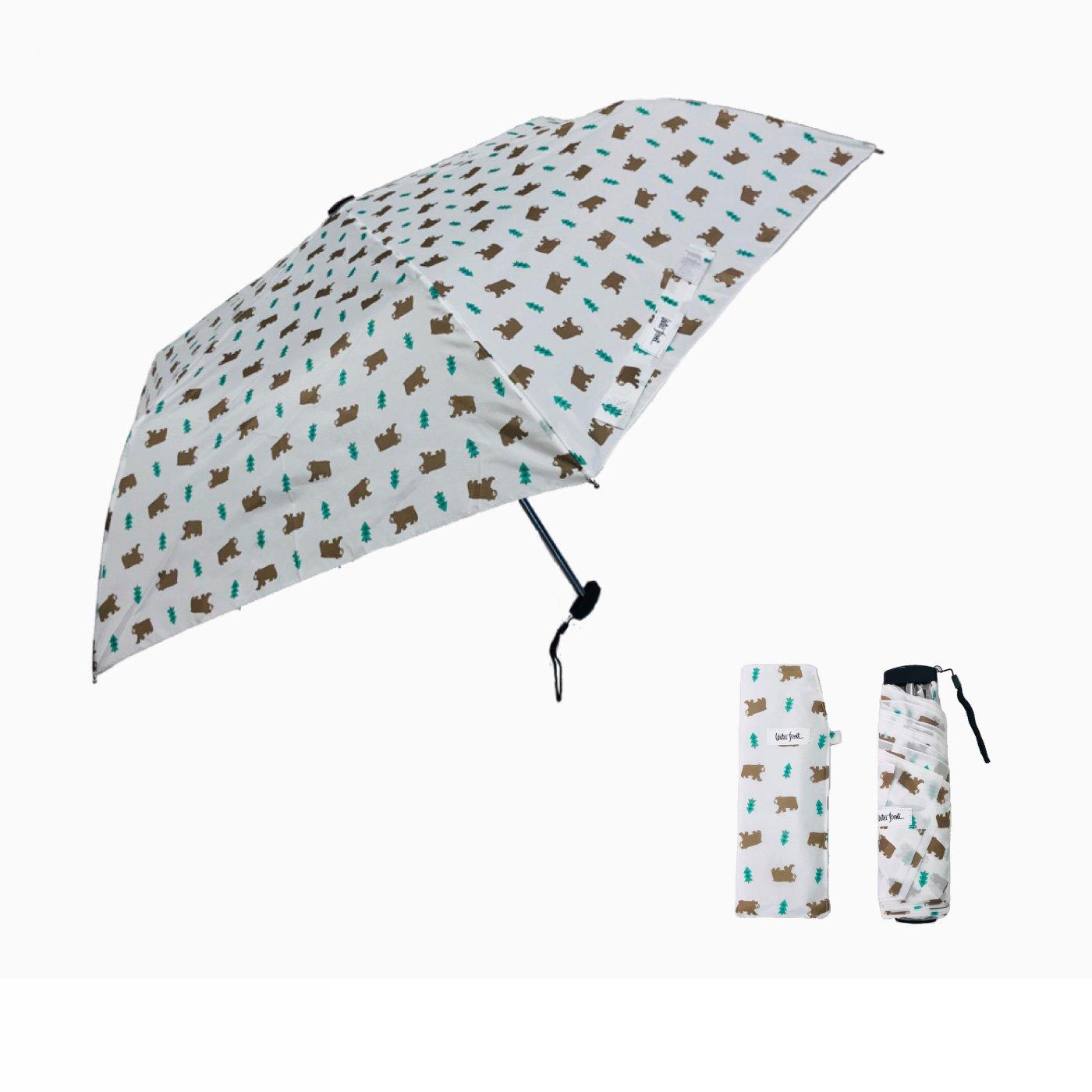 くまさんとおでかけ 晴雨兼用傘  ポケフラット(R)森のくま