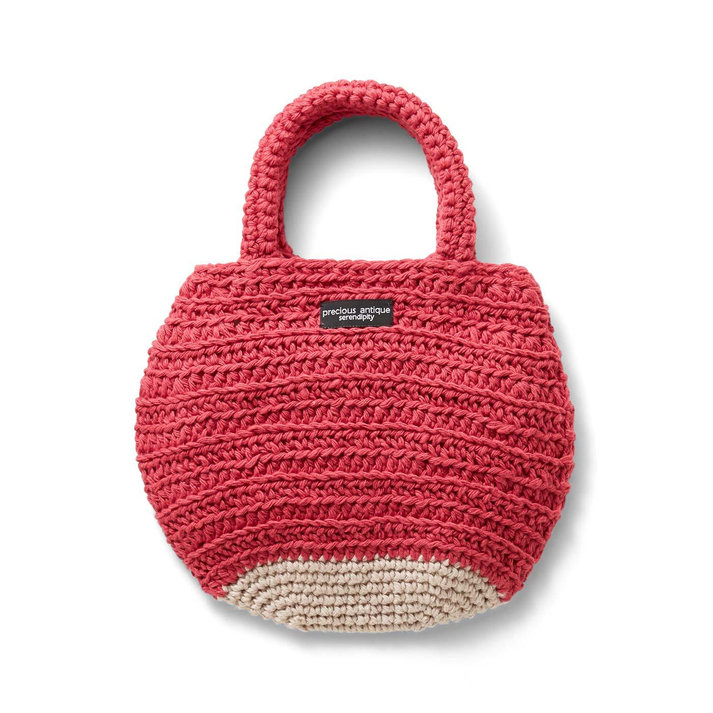 おやつの時間のりんごバッグ 縦約20cm、横約25.5cm(持ち手含まず)