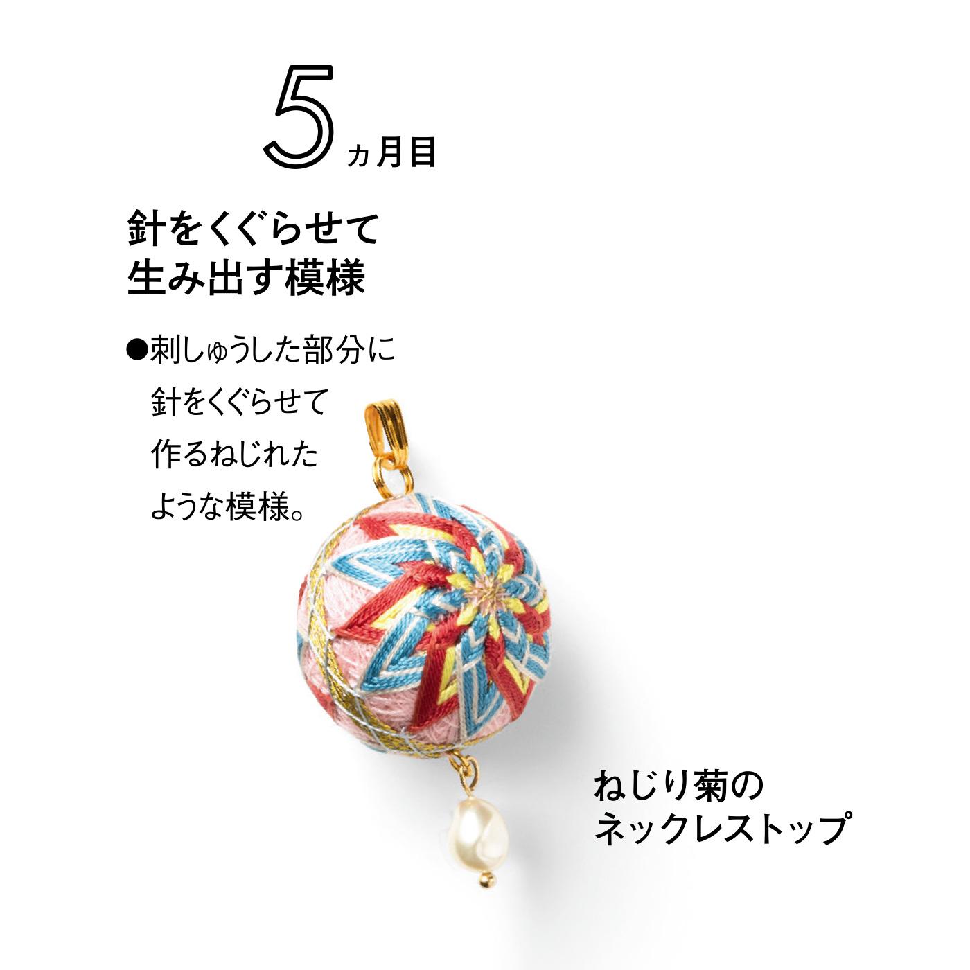 ねじり菊のネックストラップ
