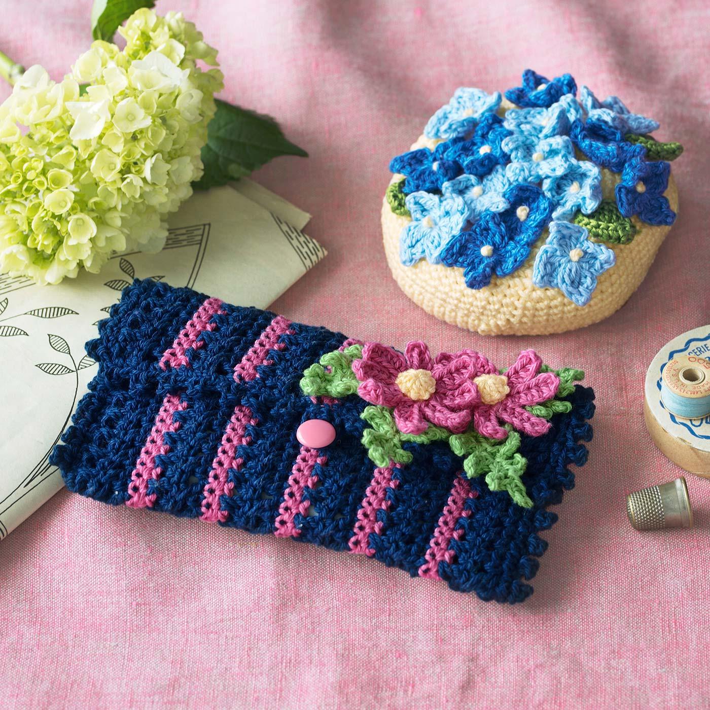 フェリシモ 花言葉でしあわせを持ち歩こう かぎ針編みお花モチーフのポーチの会【定期便】