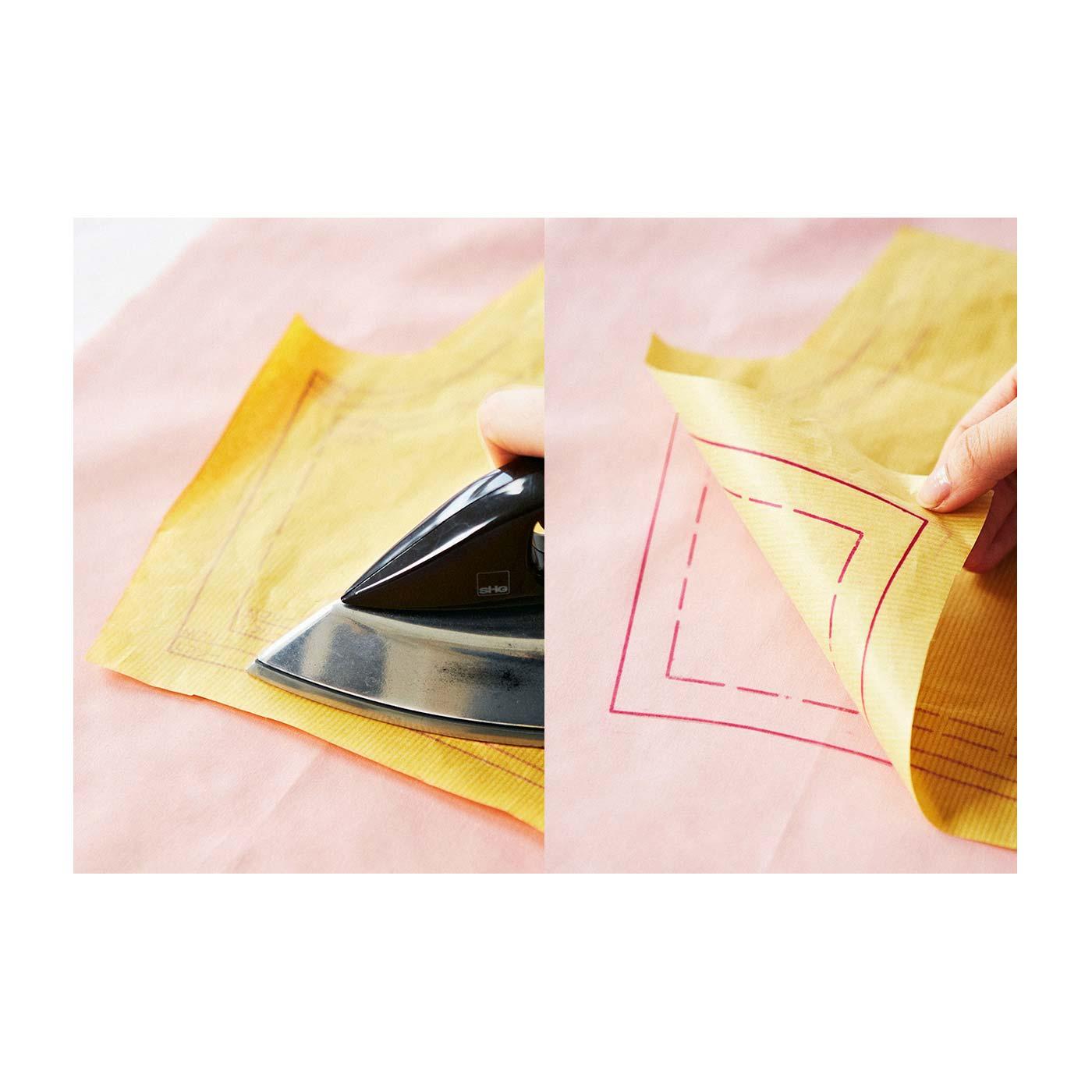 めんどうな型紙写しが、アイロン転写で簡単に写せます。