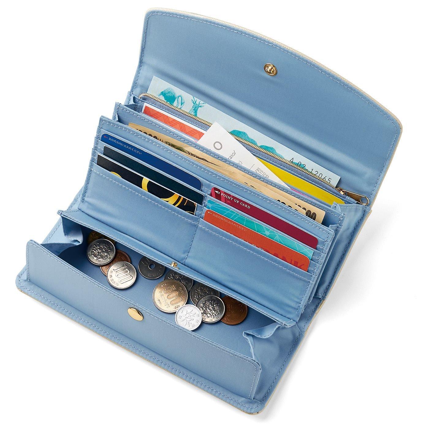 シャインカラーで気分もアップ 大人の賢い7つ星 収納上手な長財布