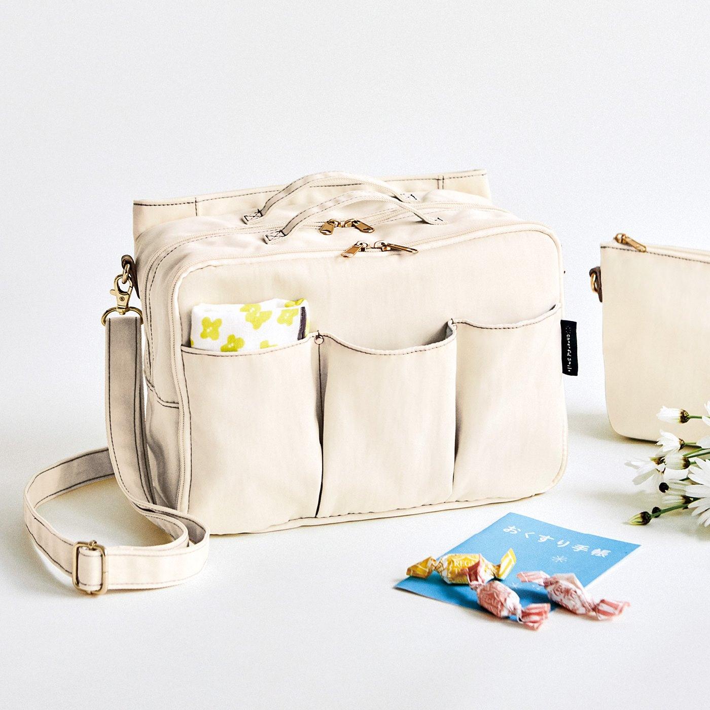 フェリシモ チャレンジド・クリエイティブ・プロジェクト Cheerful Smile 通院アイテムひとまとめ 2-WAYホスピタルバッグの会