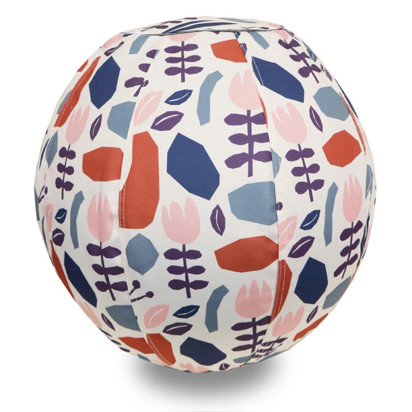 北欧をイメージした 部屋を彩るバランスボール〈日差しのガーデン/55cm〉