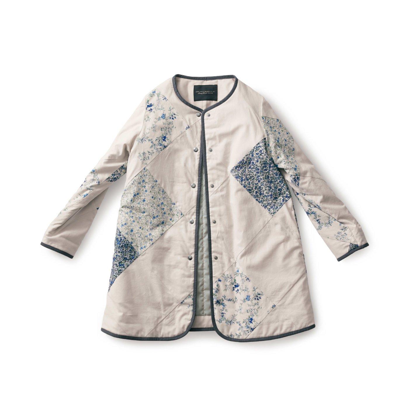 SUNNY CLOUDS  パッチワーク風キルトジャケット〈レディース〉