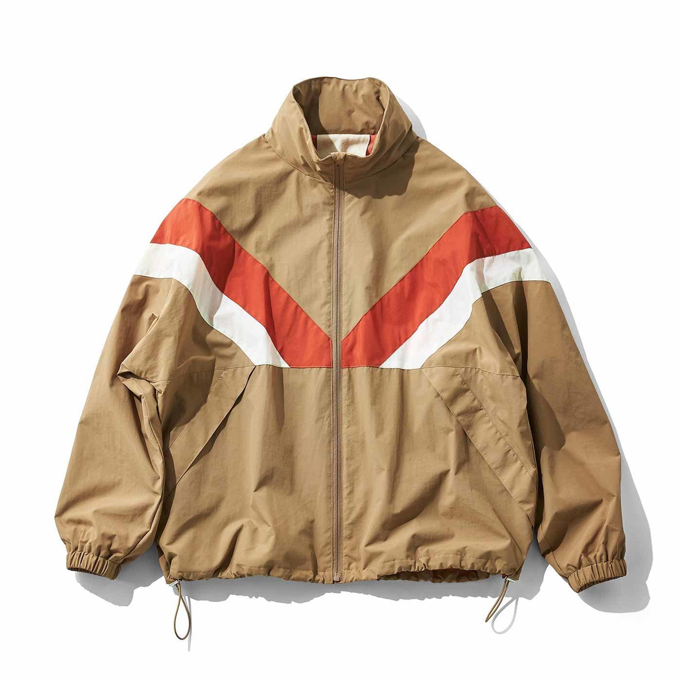 MEDE19F ラウンデッドナイロントラックジャケット〈ベージュ〉