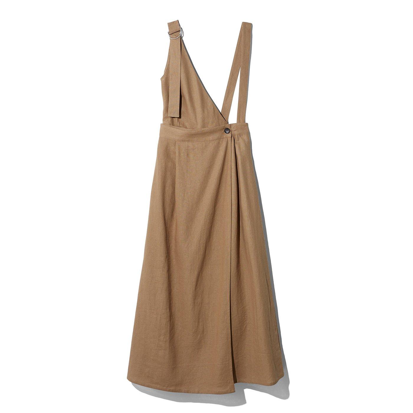 MEDE19F アシメデザイン 2ウェイジャンパースカート〈ベージュ〉