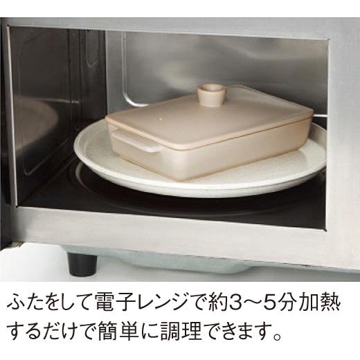 ふたをして電子レンジで約3~5分加熱するだけで簡単に調理できます。