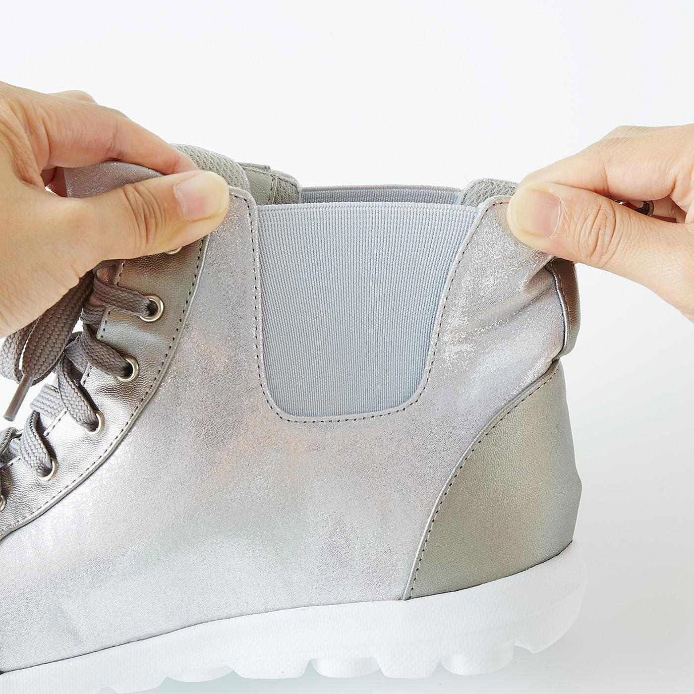 サイドゴア仕様で脱ぎ履き簡単!