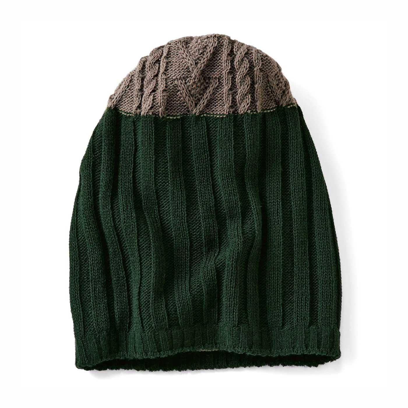 【リブ編みニット帽】アクセントカラーで秋冬おしゃれのスパイスにぴったり。