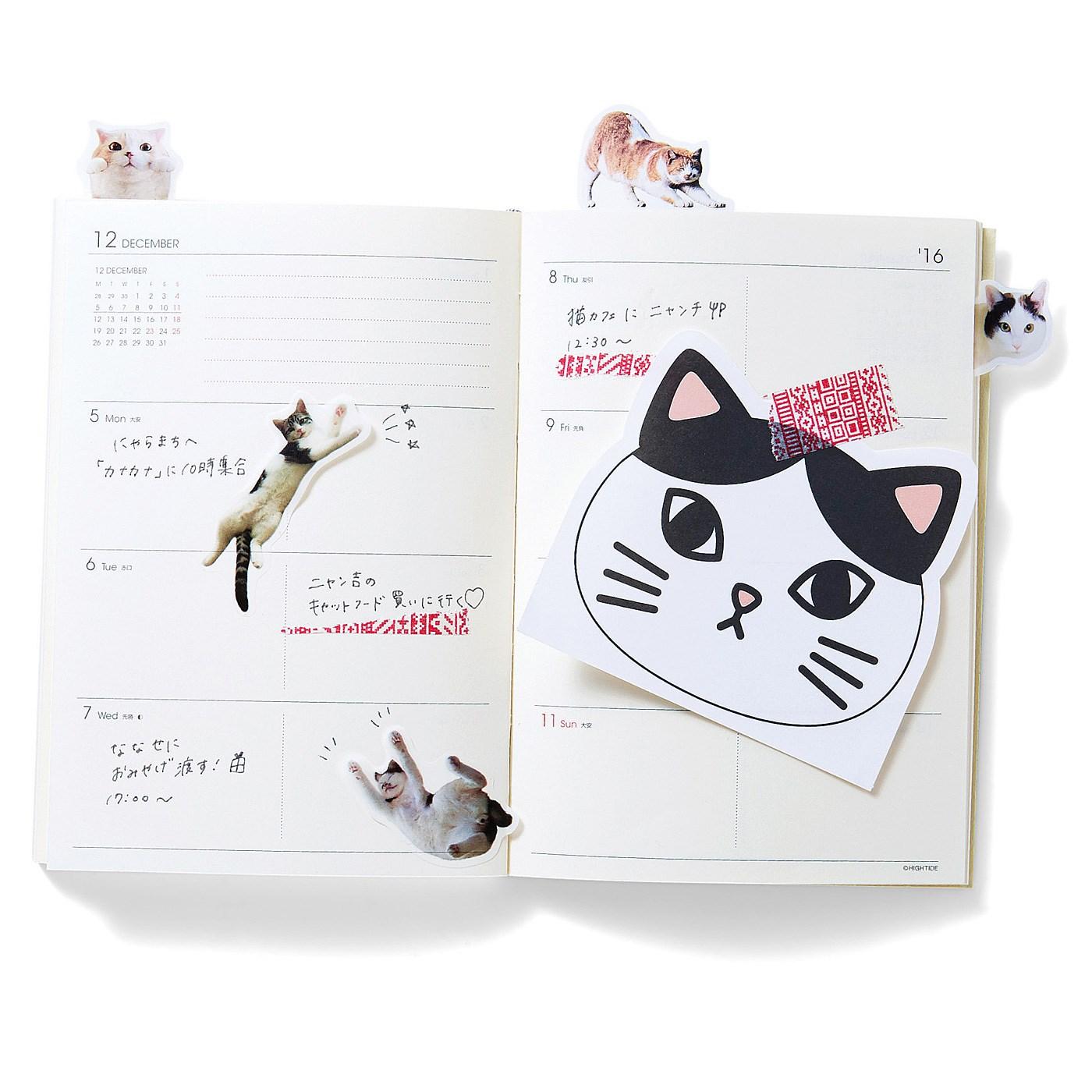 手帳やノートの盛り上げ役 旅の思い出をつづるページも猫さんでいっぱい♪