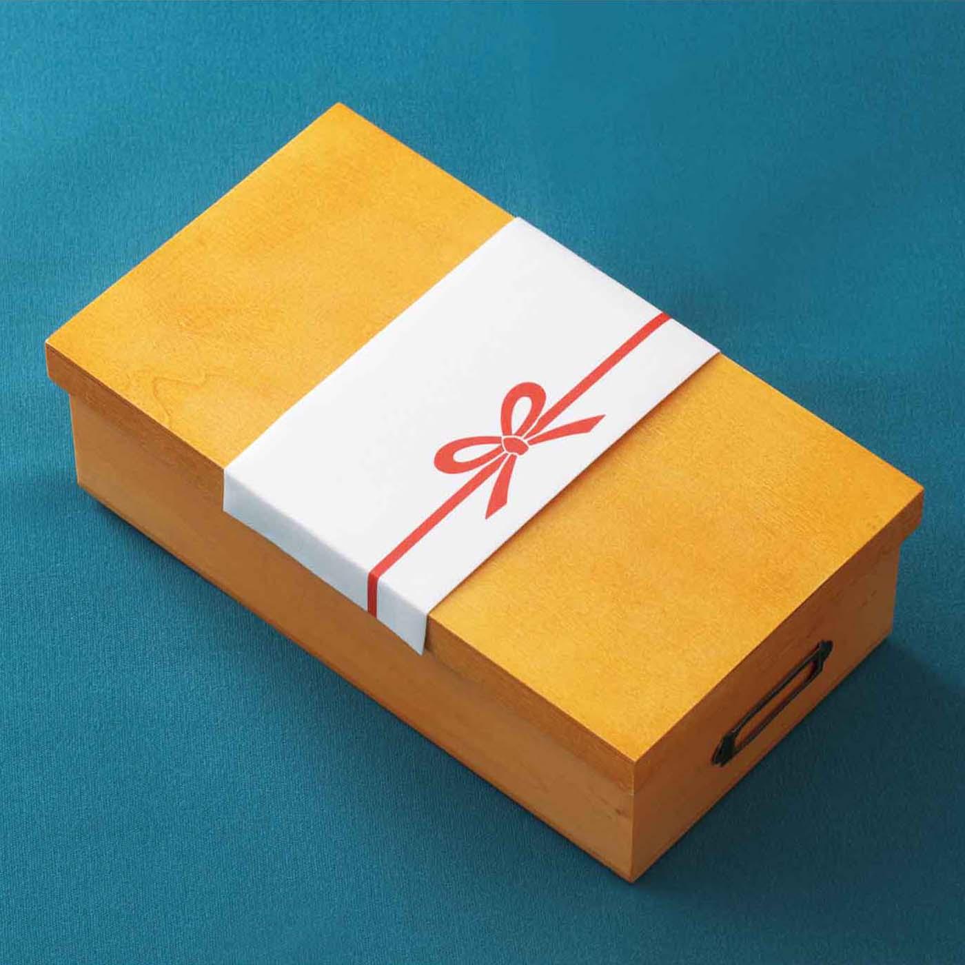 「分類仕切りボックス専用ふた」をセットして、プレゼントにしても。
