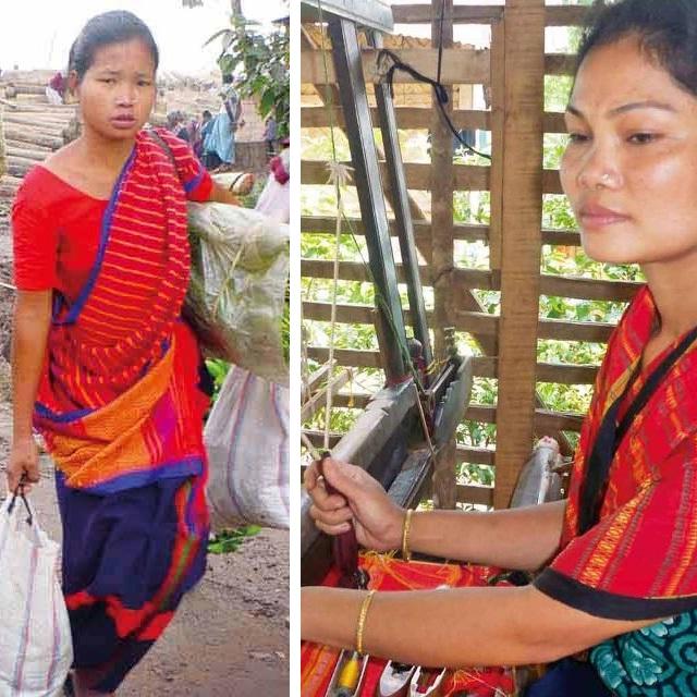 チャクマ族はバングラデシュ南東部の丘陵地帯に暮らし、その多くが自給自足で、女性たちは民族衣装を自分で織るという、昔ながらの文化を守り続けています。スカーフ作りで、女性職人さんの暮らしを支え、民族の伝統を後世に伝えるお手伝いができます。