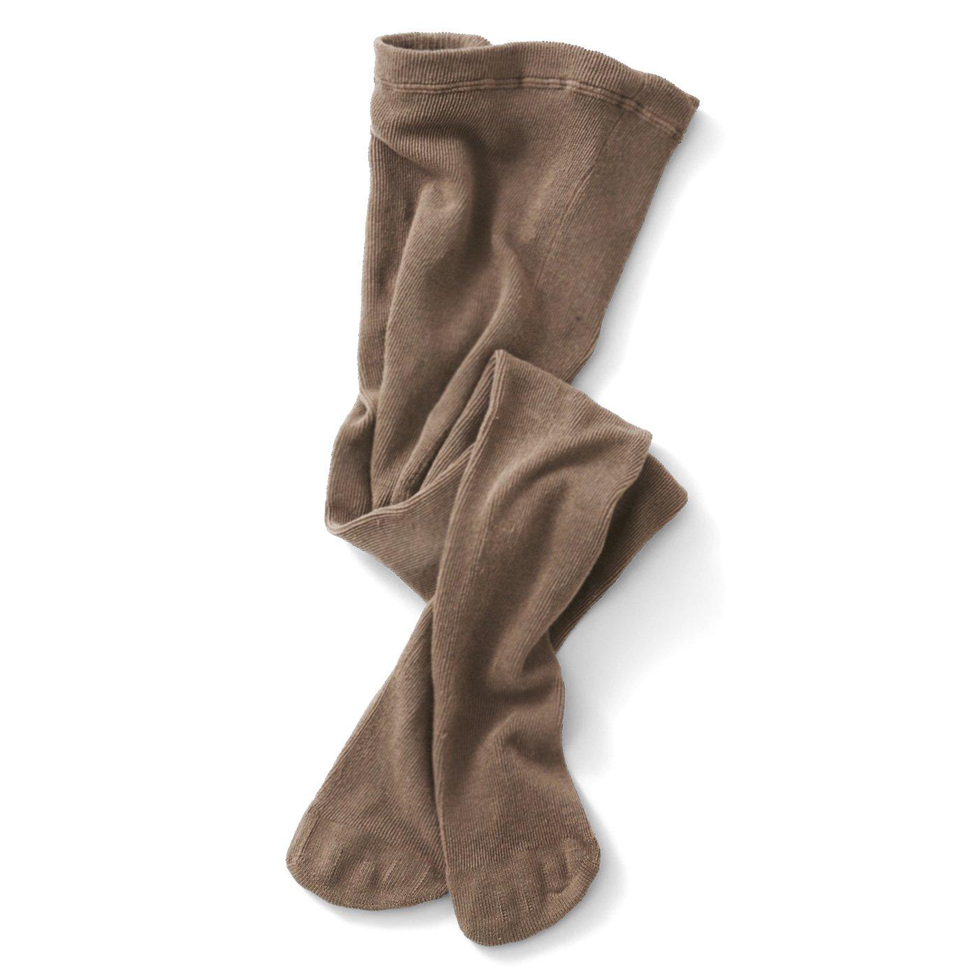 お肌に伸びやかフィット 足先綿の隠れ5本指タイツ