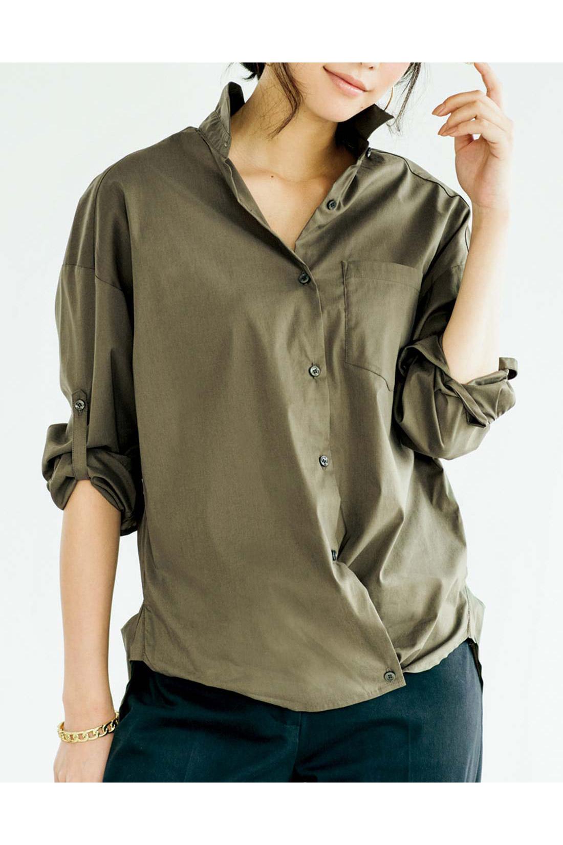 すそ裏のボタンを使えばカシュクールにも。 ※お届けするカラー・袖丈とは異なります。