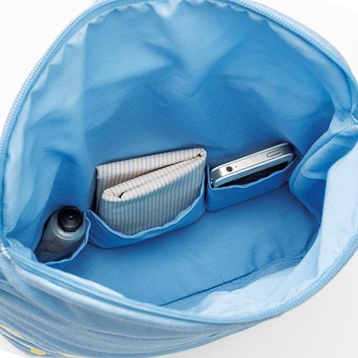 3つのポケットが小物の迷子を防ぎます。