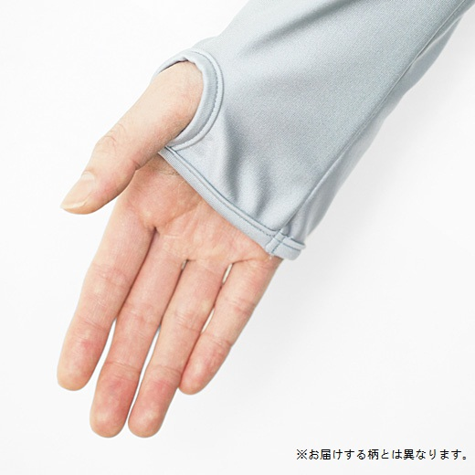 親指ホール付きで手の甲もしっかりガード。