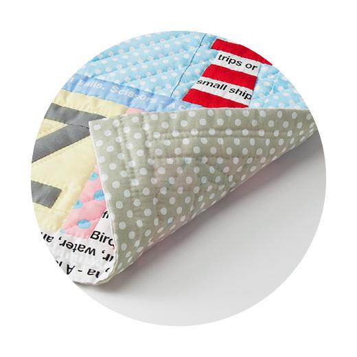 ボーダー(作品の縁取り部分)と裏布、キルトわたのセットです。※表布は別売りです