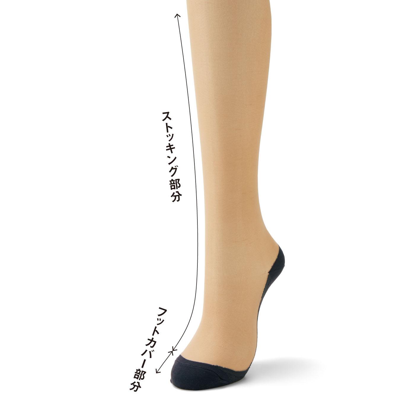 寒さ対策を考えたやや厚手素材。素足をよりきれいに見せ、合わせやすいニュアンスカラー。パンプスにももたつかない、自然な切り替えの浅ばきデザイン。
