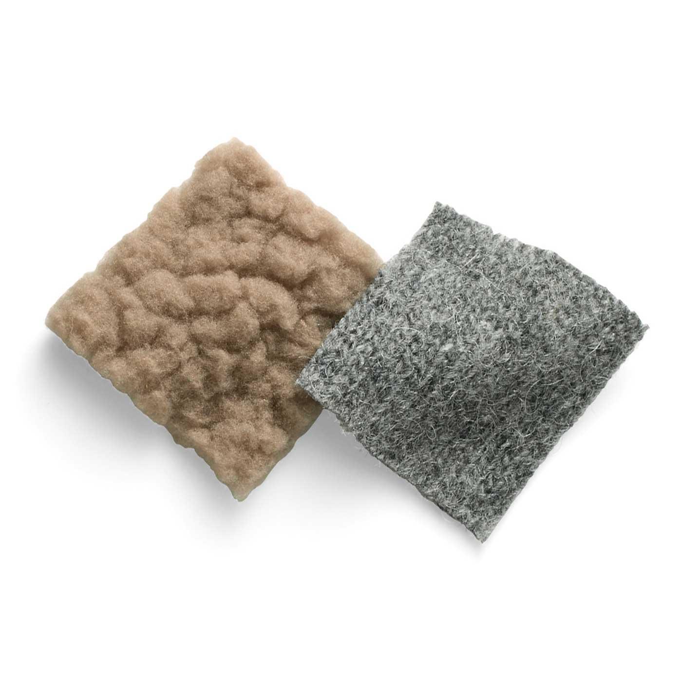 ふかふかボアとニット素材を使用。