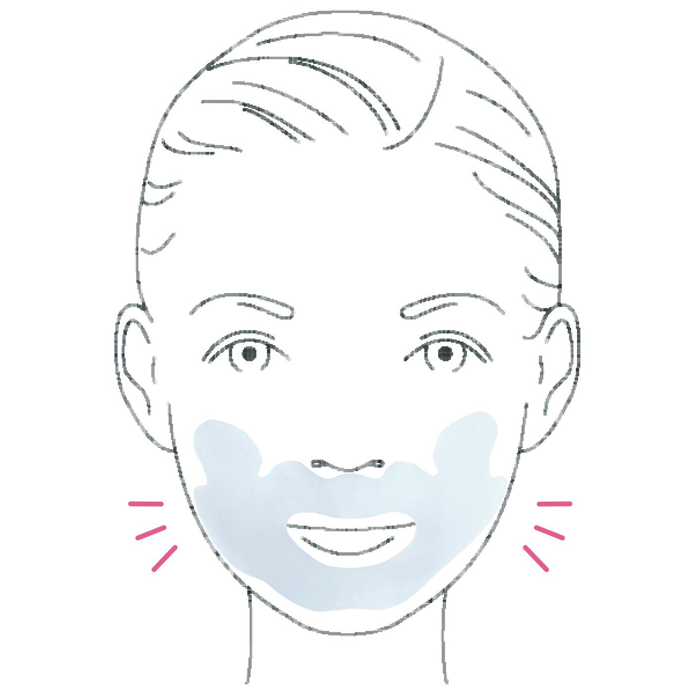 立体的な口もとの形にフィットしやすいこだわりの形状。