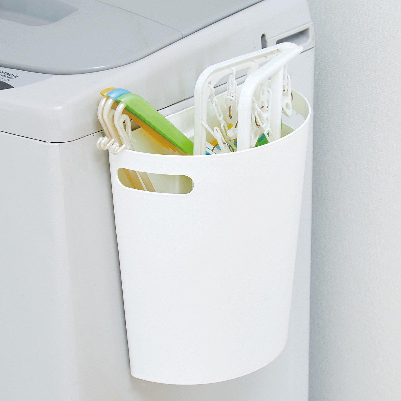 マグネットでペタ! 浮かせ収納ですっきり ゴミ箱にも使えるマルチストッカー