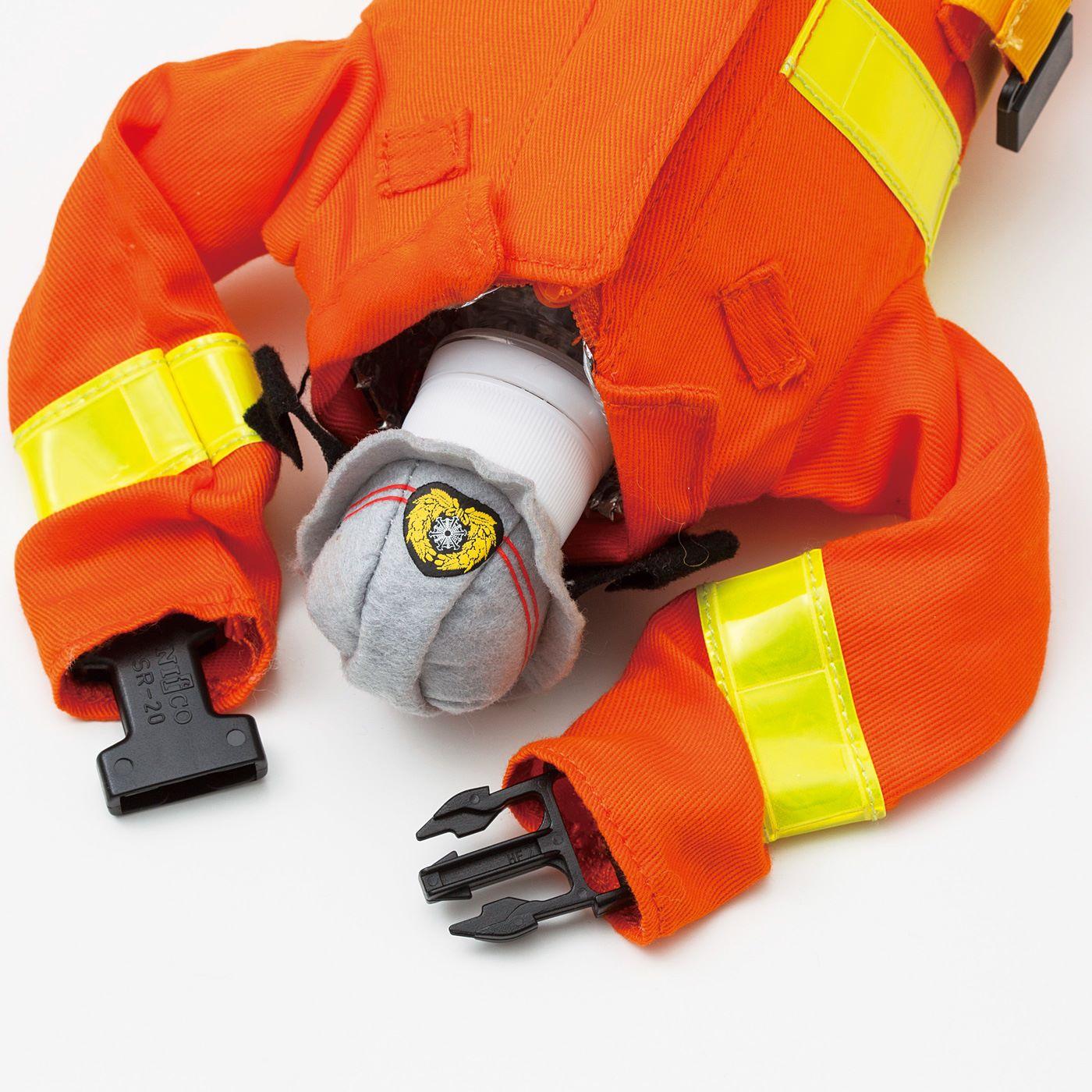 【ブルー・オレンジ共通】袖口の留め具で、バッグの持ち手などにも付けられます。