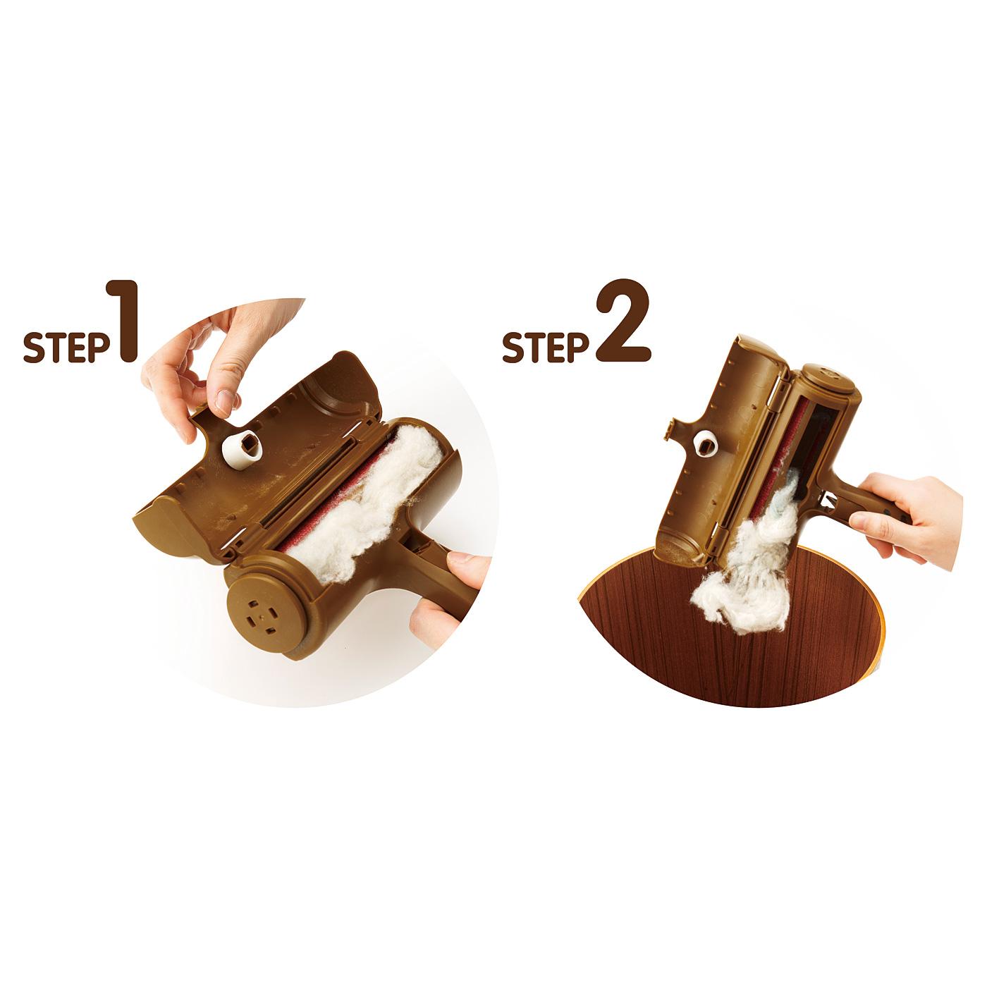 ゴミ捨て2STEP ワンタッチで開くから片手で簡単ゴミ捨て。