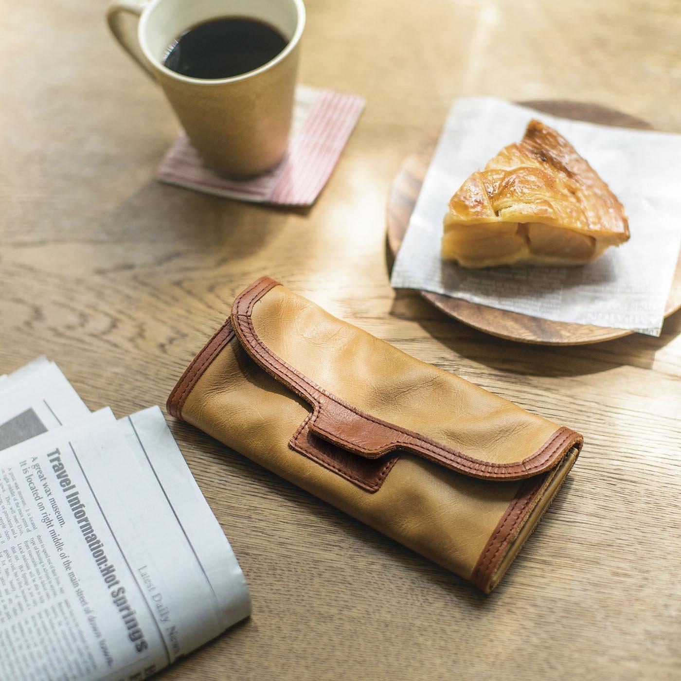 使いこむほどに愛着増す 本革長財布 (アップルパイキャメル)[本革 財布:日本製]